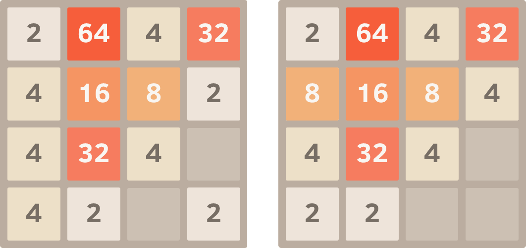 Note That There Are Three 4 Tiles In The Leftmost Column By Pressing Up All Of Try To Slide Upward Two Topmost